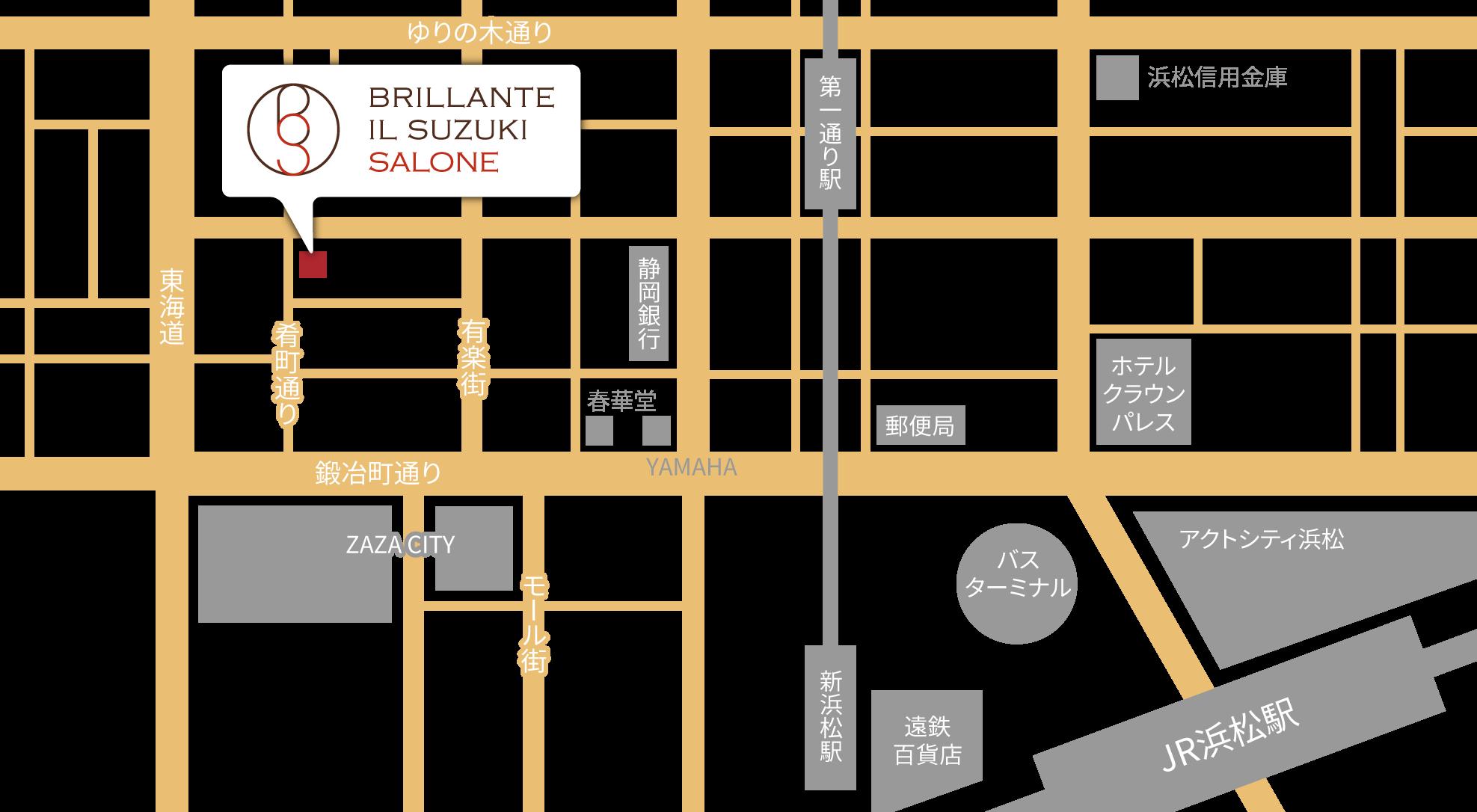 ブリランテスズキサローネの地図